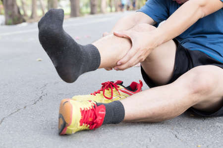 splint: Shin bone injury from running, Splint syndrome Foto de archivo