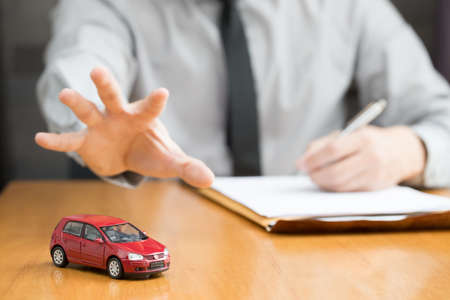 Loan officer seized car, Unable to pay for debt concept
