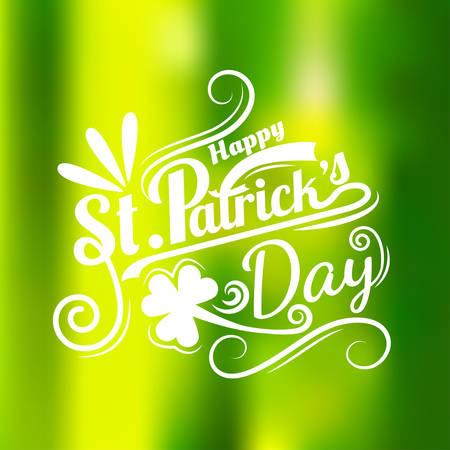 St. Patricks Day greeting. Vector illustration calligraphy style Illustration