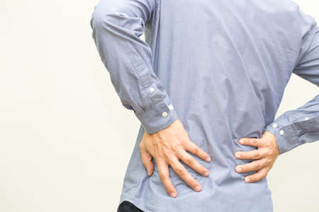 Backache, Back pain symptom and office syndrome concept