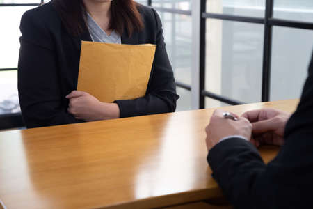 Women who are being interviewed by employers, Job interview and hiring concept