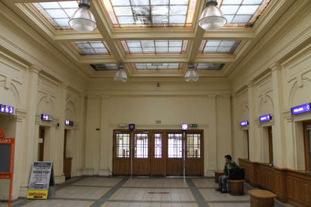 celling: The entrance hall at the station in Prerov