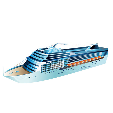 ocean liner: Cruise liner vector illustration on a white background