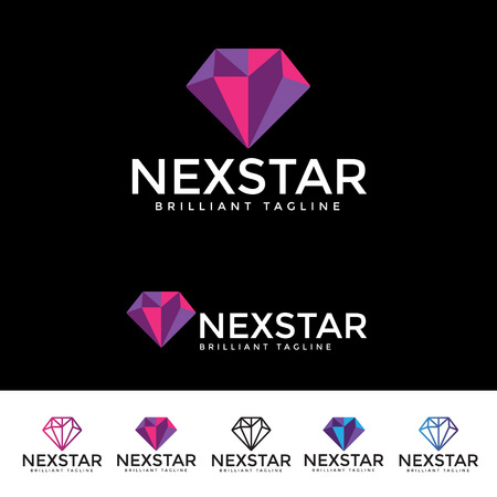 topaz: Next Star Logotype and Tagline. Vector template.