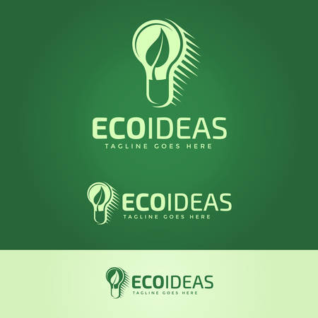 tagline: Ecology Ideas Logotype and Tagline. Vector logo template.