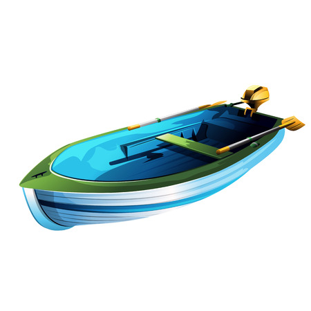 rowing boat: Rowing boat illustration on a white background Stock Photo