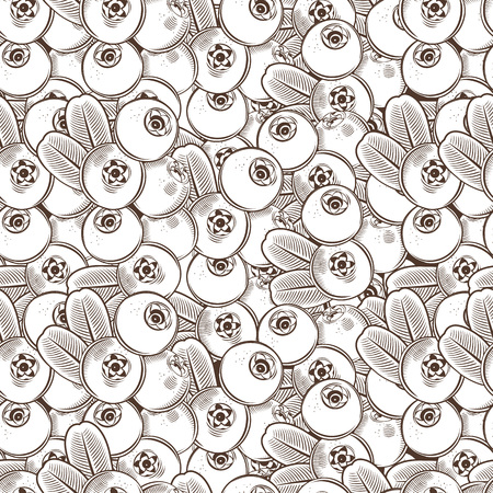 cowberry: Vintage Cowberry Seamless Pattern