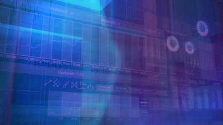 Abstract stock exchange infographics