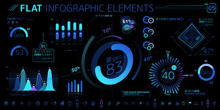 Corporate Infographic Vector Elements Collection