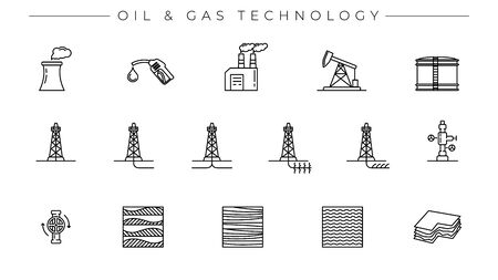 Set of Oil and Gas Technology icons is one of the modern line icons sets on the theme of Oil and Gas Industry.