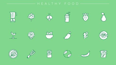 Set of Healthy Food icons is one of the modern line icons sets on the theme of Healthy Lifestyle.