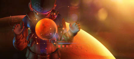 Humanity is mastering fantastic Mars from orbit.
