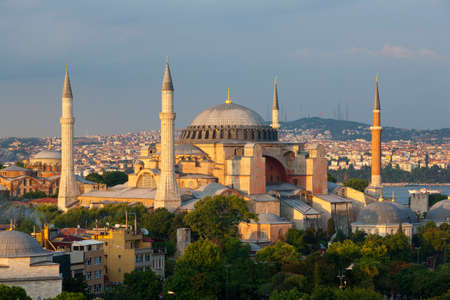 Hagia Sofia Museum in the afternoon, Istanbul, Turkey