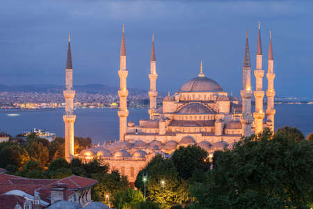 The Blue Mosque at night, Istanbul, Turkey