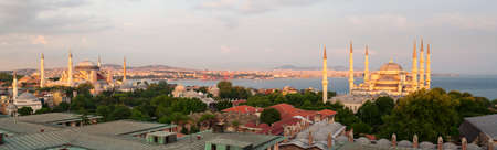 Panoramic view of Istanbul, Turkey Banco de Imagens