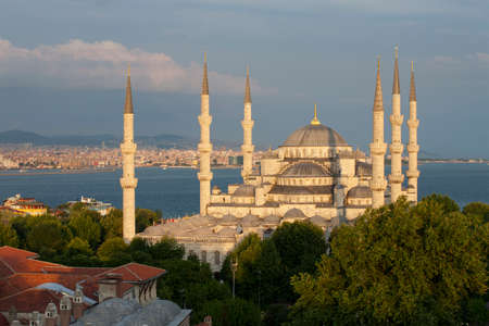 The Blue Mosque in the afternoon, Istanbul, Turkey