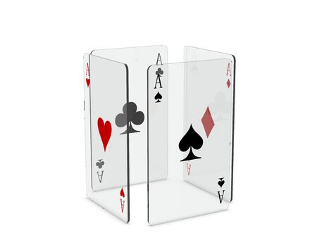 Glass play cards - spades in front photo