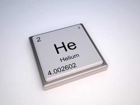 periodic: Elemento chimico Elio del periodico tavolo con simbolo egli - IUPAC