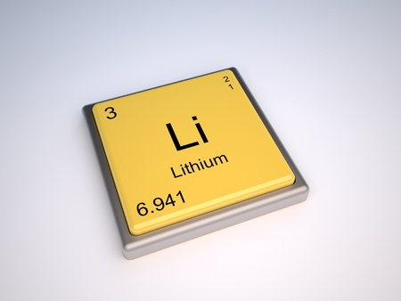 Lithium chemical element of the periodic table with symbol Li - IUPAC photo