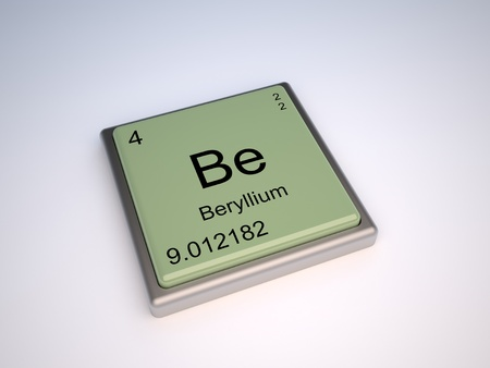 Beryllium chemical element of the pedic table with symbol Be - IUPAC Stock Photo - 9224093