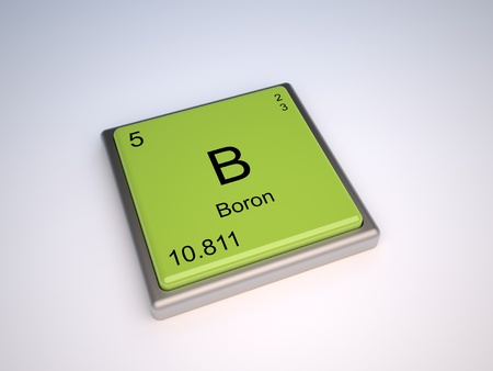 Boron Chemical Element Of The Periodic Table With Symbol B Stock