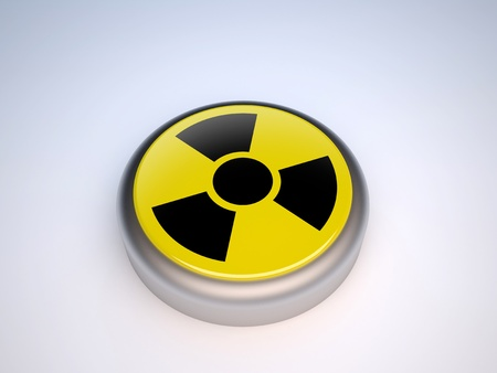 Radioactive yellow button Stock Photo - 9224110