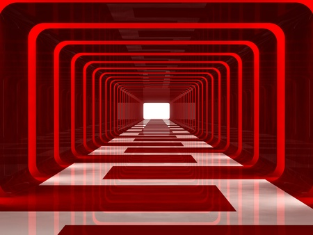 Red corridor Stock Photo - 9224115