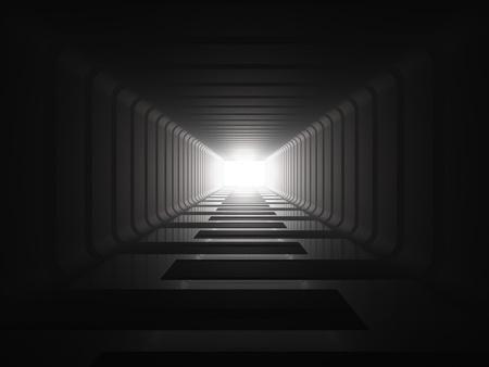 La luz al final del túnel Foto de archivo - 9224112