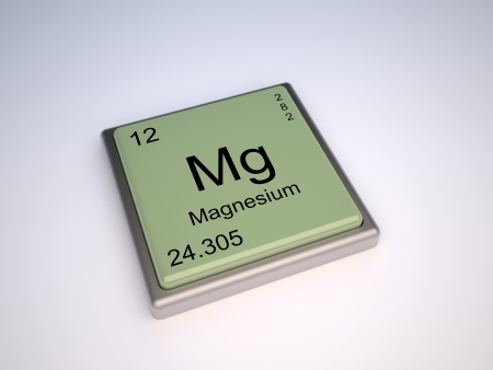 magnesium: Magnesium chemical element of the periodic table with symbol Mg Stock Photo