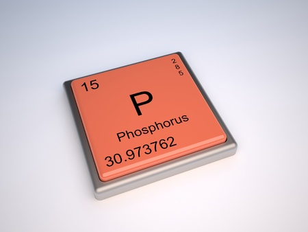 Phosphorus chemical element of the periodic table with symbol P photo