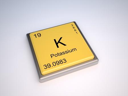 protons: Elemento qu�mico de potasio de la tabla peri�dica con el s�mbolo k