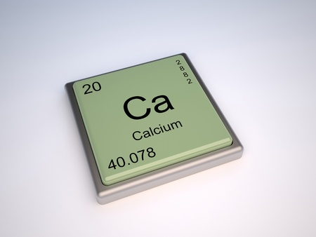Calcium Chemical Element Of The Periodic Table With Symbol Ca Stock