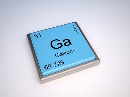 Gallium chemical element of the periodic table with symbol Ga Stock Photo - 9257125