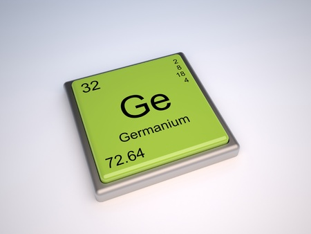 Germanium chemical element of the periodic table with symbol Ge photo
