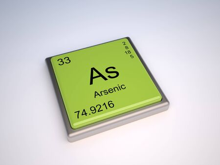 Arsenic chemical element of the pedic table with symbol As Stock Photo - 9257138