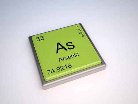 Ars�nico elemento qu�mico de la tabla peri�dica con s�mbolo como Foto de archivo - 9257138