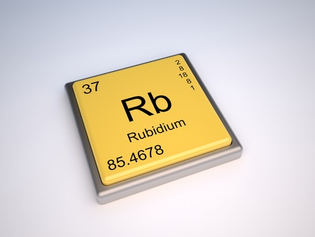 isotopes: Rubidium chemical element of the periodic table with symbol Rb