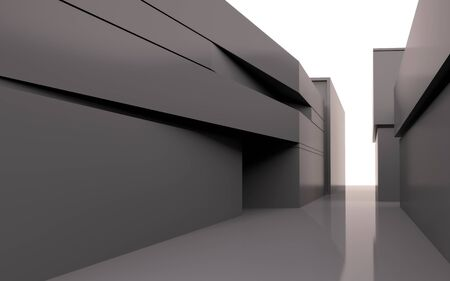 3D abstract architecture Stock Photo - 9257128