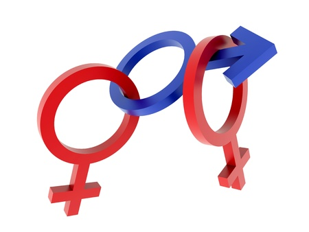 Sex simbols - menage a trois Stock Photo - 9256911