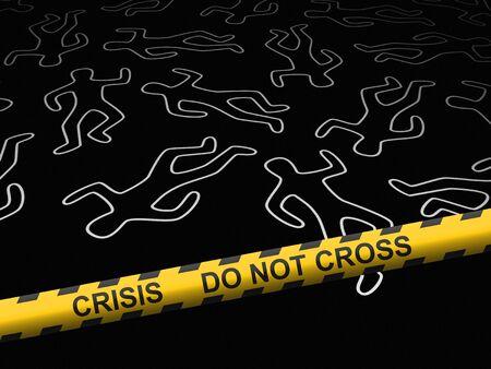 Crisis - crime scene Stock Photo - 9257078