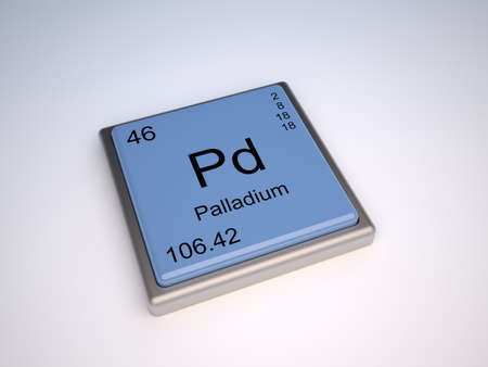 isotopes: Palladium chemical element of the periodic table with symbol Pd Stock Photo