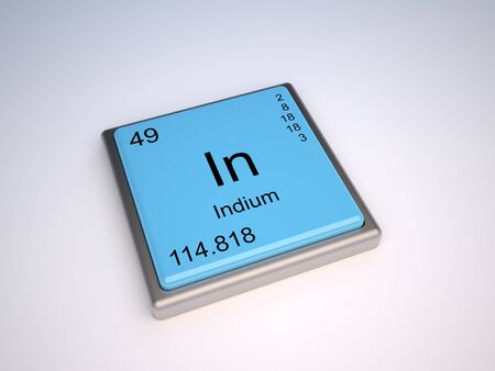 Indium chemical element of the periodic table with symbol In Stock Photo - 9257100