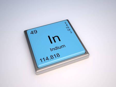 indium: Indium chemical element of the periodic table with symbol In