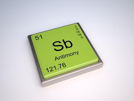 antimony: Antimony chemical element of the periodic table with symbol Sb Stock Photo