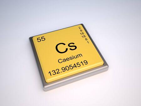 cs: Caesium chemical element of the periodic table with symbol Cs