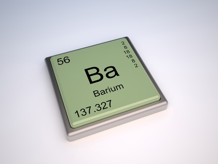 Barium chemical element of the periodic table with symbol Ba photo