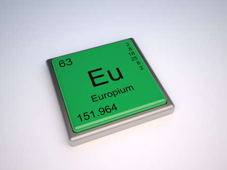 Europium chemical element of the periodic table with symbol Eu photo