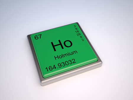 Holmium chemical element of the periodic table with symbol Ho photo