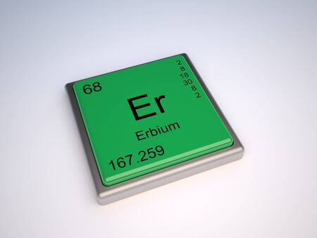 neutrons: Erbium chemical element of the periodic table with symbol Er Stock Photo