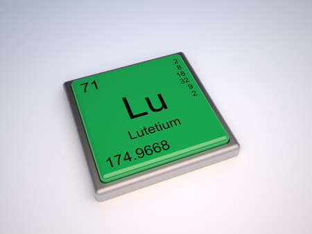 Lutetium Chemical Element Of The Periodic Table With Symbol Lu Stock